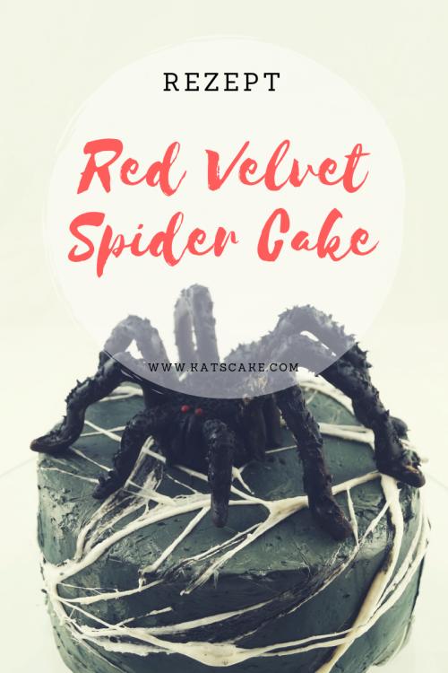 Red Velvet Spider Cake